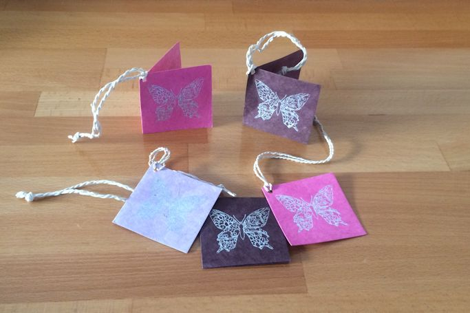 Fair Trade Lokta Paper Butterfly Gift Tag