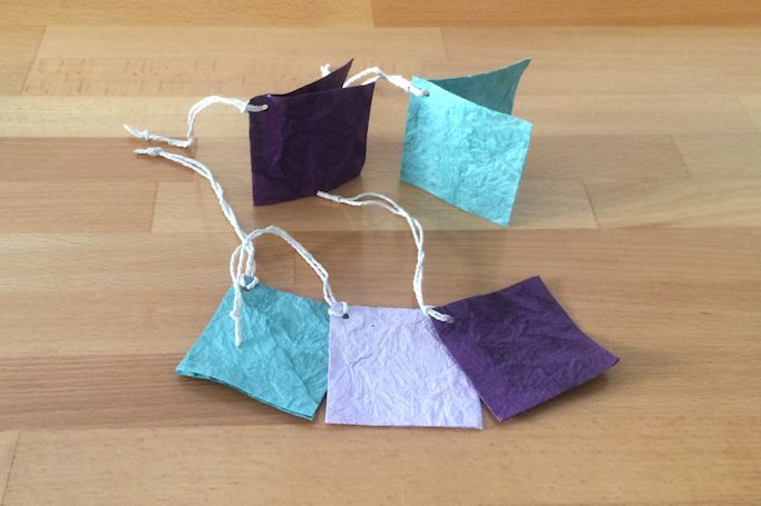 Fair Trade Textured Crinkle Dyed Lokta Paper Tag