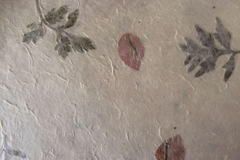 Natural with Marigold Petals 5 Lokta Paper Handmade Fair Trade Wrapping Paper
